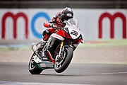 Jason O Halloran (22) Honda Racing during qualifying at the BSB Championship at the TT Circuit,  Assen, Netherlands on 1 October 2016. Photo by Nigel Cole.