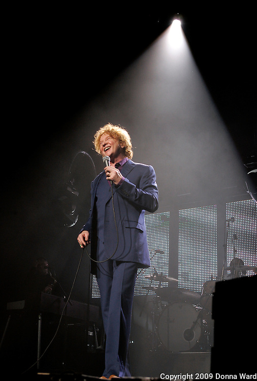 Mick Hucknall of Simply Red performs at Radio City Music Hall in New York City, USA on March 15, 2009.