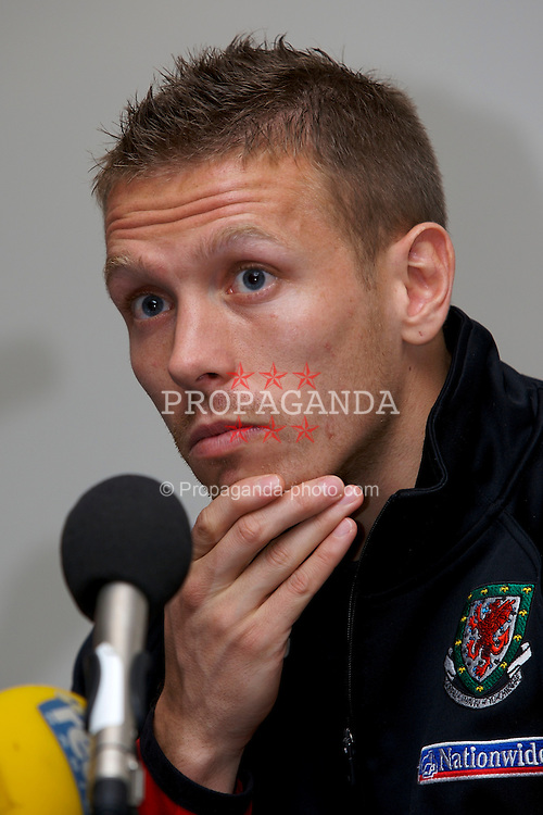 Nicosia, Cyprus - Friday, October 12, 2007: Wales' Craig Bellamy during a press conference at the Hilton Hotel ahead of their UEFA Euro 2008 Qualifying match against Cyprus in Nicosia. (Photo by David Rawcliffe/Propaganda)