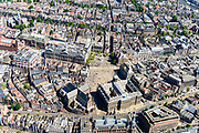 Nederland, Noord-Holland, Amsterdam, 29-06-2018; centrum van de stad, Dam met Nationaal Monument. Rond het plein, Koninklijk Paleis, Nieuwe Kerk, Bijenkorf en Grand Hotel Krasnapolsky.<br /> Dam square with National Monument.<br /> luchtfoto (toeslag op standard tarieven);<br /> aerial photo (additional fee required);<br /> copyright foto/photo Siebe Swart