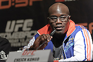 "COLOGNE, GERMANY, JUNE 11, 2009: Cheick Kongo is pictured during the pre-fight press conference for ""UFC 99: The Comeback"" inside the Hyatt Regency Hotel in Cologne, Germany on June 11, 2009."