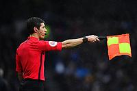 Football - 2019 / 2020 Premier League - Tottenham Hotspur vs. Brighton & Hove Albion<br /> <br /> Assistant referee Neil Davies rules out Tottenham Hotspur's Harry Kane's goal for offside, at The Tottenham Hotspur Stadium.<br /> <br /> COLORSPORT/ASHLEY WESTERN