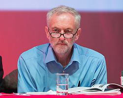 &copy; Licensed to London News Pictures. 13/08/2015.<br /> <br /> Pictured: UK LABOUR leadership front runner Jeremy Corbyn has held a rally followed by a question and answer session at Aberdeen's Arts Theatre Centre , Scotland on 13 August 2015 . <br /> <br /> The leadership race has entered the final month before members decide whether they want Jeremy Corbyn, Yvette Cooper, Andy Burnham or Liz Kendall to be the new leader.<br /> <br /> He said:  &ldquo;This campaign is about spreading a message of hope &ndash; an anti-austerity, public investment for prosperity movement is under way.&rdquo;<br /> <br /> Photo credit should read Max Bryan/LNP.