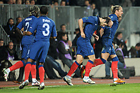 FOOTBALL - UEFA EURO 2012 - QUALIFYING - GROUP D - LUXEMBOURG v FRANCE - 25/03/2011 - JOY YOANN GOURCUFF (FRA) AFTER HIS GOAL - PHOTO FRANCK FAUGERE / DPPI