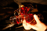 Beaujolais Nouveau party  in the wine bar, Verre Volé, Paris, near Canal St. Martin..July 2004.......