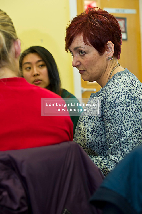 Pictured: Angela Constance, Communities Secretary<br /> Today Communities Secretary  Angela Constance visited Dr Bells family centre, where she met staff and volunteers ahead of the first Tackling Child Poverty Delivery Plan being published.<br /> <br /> <br /> Ger Harley   EEm 29 March 2018