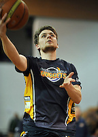 James Ross warms up prior to,  the NBL match, between the Otago Nuggets and Manawatu Jets, Lion Foundation Arena, Edgar Centre, Dunedin, Otago, New Zealand, Saturday, June 8, 2013. Credit: Joe Allison / Allison Images