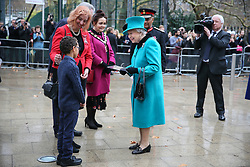 Her Royal Highness The Queen arriving to officially open The Queen Elizabeth II Coram Centre  - London<br />