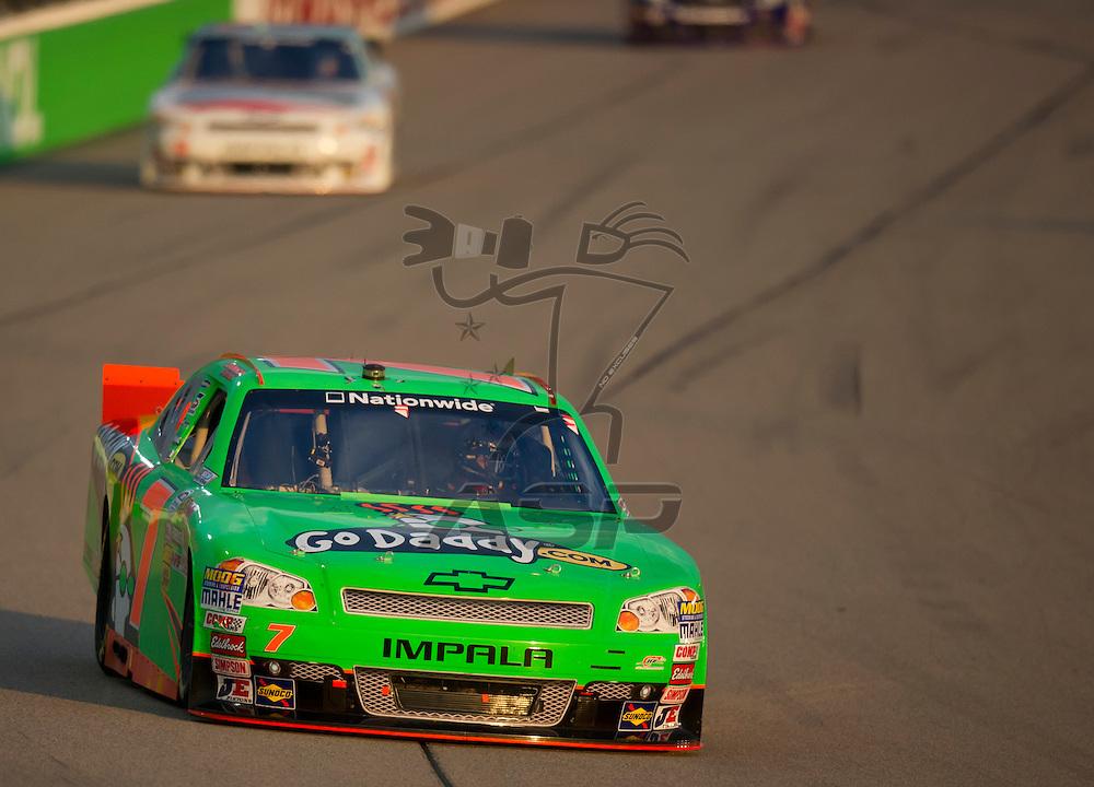NEWTON, IA - July 04, 2012: Danica Patrick (7) during the U.S. Cellular 250 race at Iowa Speedway in Newton, IA.