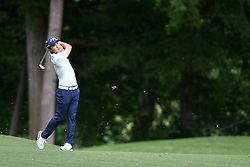 May 3, 2019 - Charlotte, NC, U.S. - CHARLOTTE, NC - MAY 03: Sangmoon Bae plays his shot from the fairway on eleven during round two of the Wells Fargo Championship on May 03, 2019 at Quail Hollow Club in Charlotte,NC. (Photo by Dannie Walls/Icon Sportswire) (Credit Image: © Dannie Walls/Icon SMI via ZUMA Press)