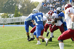 12 October 2002: Tony Romo slows up Justen River enough for him to get tackled from behind. Eastern Illinois University Panthers host and defeat the Colonels of Eastern Kentucky during EIU's Homecoming at Charleston Illinois.