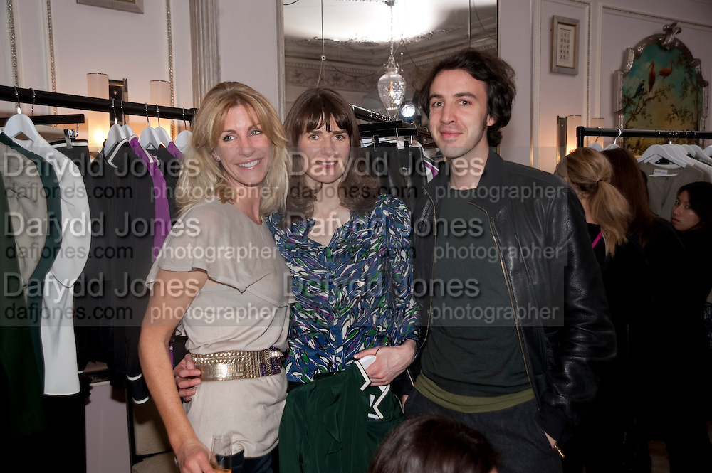 BARONESS LISA BENTINCK;  LADY SOPHIA HAMILTON; CHARLES SEBLINE; Hamlton-Paris host a trunk show for Autumn/Wnter 2010. The Connaught. Carlos Place. Mayfair. London W1. 23 March 2010.