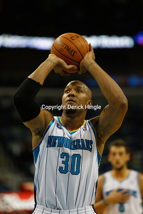 December 1, 2010; New Orleans, LA, USA; during the first half at the New Orleans Arena. The Hornets defeated the Bobcats 89-73. Mandatory Credit: Derick E. Hingle..