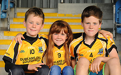 Louisbugh supporters Thomas, Rebecca and Darragh O&rsquo;Toole&rsquo;s enjoying the Junior semi final at McHale Park on saturday evening.<br />Pic Conor McKeown