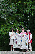 Great Tapestry of Scotland. Stitching groups meet in Dunblane to showcase 3 complete panels. 18th June 2013<br /> <br /> Picture by Alex Hewitt