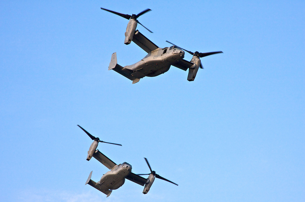MS-22 Ospreys, Over New Orleans, Louisiana, USA