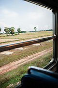 Views of Cambodian countryside from Royal Railway train