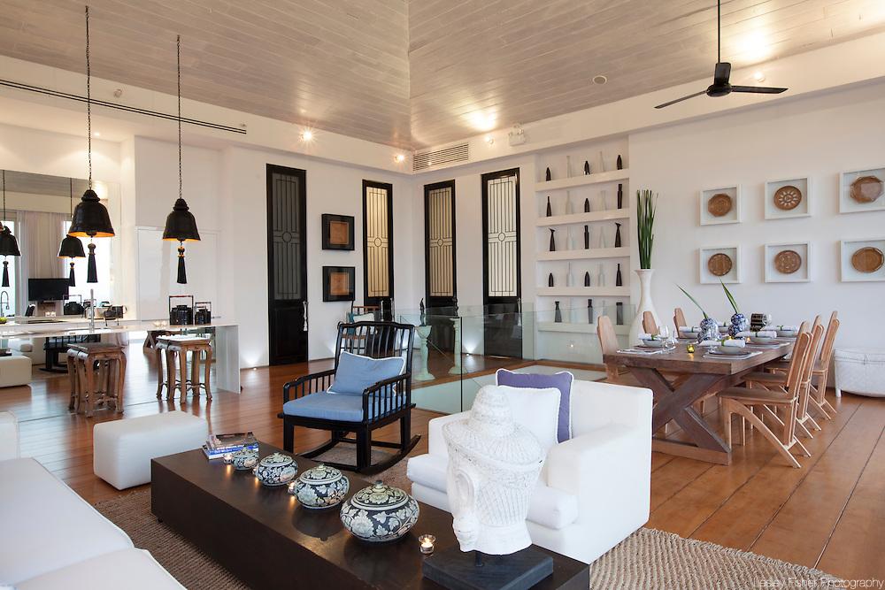 Living room at Villa Belle a Luxury, private villa on Koh Samui, Thailand