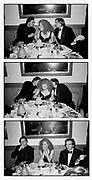 This is a sequence of three   20 x 16 prints.  Could be displayed in separate frames.  Vertically or horizontally.. Liam Neeson , Alex Kingston and Ralph Fiennes  at Steve Tisch &  Vanity Fair's Oscar Night Party,<br />