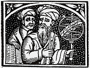 Astronomers. From title page of 'Opera' of Appolonius of Perga, 1537.