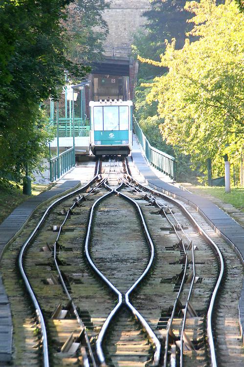 Petřín Funicular, Prague, Czech Republic