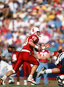 COLLEGE FOOTBALL:  Stanford vs Cal on November 20, 1993 at Stanford Stadium in Palo Alto, California. Justin Armour #80.   Photograph by David Madison ( www.davidmadison.com ).