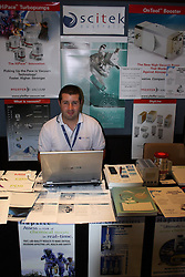 AO Week exhibitors display area.