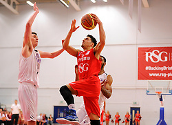 Bristol Flyers' Roy Owen scores a basket   - Photo mandatory by-line: Joe Meredith/JMP - Mobile: 07966 386802 - 18/04/2015 - SPORT - Basketball - Bristol - SGS Wise Campus - Bristol Flyers v Leeds Force - British Basketball League