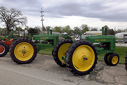 04 May 2013:   Arranged to coincide and be a part of the Red Corridor Route 66 festival, the village of Lexington hosts an antique tractor show.  Roger Whaley is the chairman of the organizing committee.  Closest - 1941(a) John Deere.