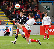 Nicky Riley breaks past Stirling's Martyn Corrigan - Stirling Albion v Dundee, IRN BRU Scottish League 1st Division, Forthbank Stadium, Stirling<br /> <br />  - © David Young<br /> ---<br /> email: david@davidyoungphoto.co.uk<br /> http://www.davidyoungphoto.co.uk