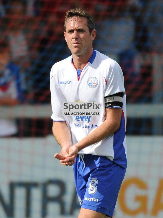 Rushdens Aaron Parkinson, Dislocated his Fingers after a challenge, Game Stopped, AFC Rushden & Diamonds v Bedford Town, FA Challenge  Cup, Premliminary, AFC Rushden & Diamonds v Bedford Town, FA Challenge  Cup, Premliminary, 30th August 2014