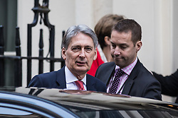 © Licensed to London News Pictures. 05/12/2016. London, UK. The Chancellor of The Exchequer Philip Hammond leaves 11 Downing Street. Photo credit: Rob Pinney/LNP