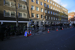 UK ENGLAND LONDON 4DEC12 - Press gather outside the King Edward VII private hospital in Beaumont Street, Marylebone, central London. ..Kate Middleton has been admitted to this hospital with acute morning sickness amidst the news of the royal couple expecting their first baby...jre/Photo by Jiri Rezac..© Jiri Rezac 2012