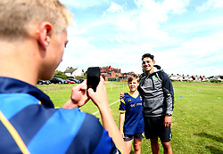 Bryce Heem of Worcester Warriors poses for a picture as Worcester Warriors host a summer holiday rugby camp at Malvern College - Mandatory by-line: Robbie Stephenson/JMP - 16/08/2017 - RUGBY - Malvern College - Worcester, England - Worcester Warriors - Malvern Rugby Camp