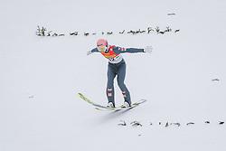 16.02.2020, Kulm, Bad Mitterndorf, AUT, FIS Ski Flug Weltcup, Kulm, Herren, 1. Wertungsdurchgang, im Bild Daniel Huber (AUT) // Daniel Huber of Austria during his 1st Competition Jump for the men's FIS Ski Flying World Cup at the Kulm in Bad Mitterndorf, Austria on 2020/02/16. EXPA Pictures © 2020, PhotoCredit: EXPA/ JFK