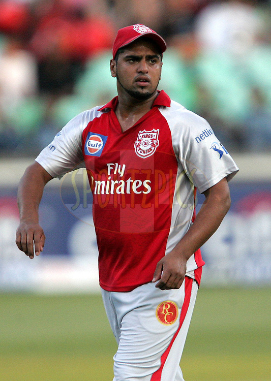 DURBAN, SOUTH AFRICA - 24 April 2009. Yusuf Abdullah who produced his career best during the IPL Season 2 match between the Royal Challengers Bangalore and the Kings X1 Punjab held at Sahara Stadium Kingsmead, Durban, South Africa..