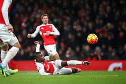 Goal, Joel Campbell of Arsenal scores, Arsenal 1-0 Swansea City - Mandatory byline: Jason Brown/JMP - 07966386802 - 02/03/2016 - FOOTBALL - Emirates Stadium - London, England - Arsenal v Swansea City - Barclays Premier League