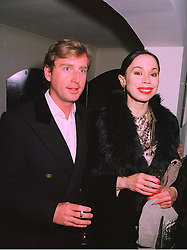 PRINCE CHARLES HENRY DE LOBKOWICZ and opera singer MARIA EWING, at a party in London on 24th November 1997.MDP 7