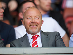 LIVERPOOL, ENGLAND - Wednesday, August 17, 2011: Liverpool's director of academy and player development Frank McParland watches his side take on Sporting Clube de Portugal during the first NextGen Series Group 2 match at Anfield. (Pic by David Rawcliffe/Propaganda)