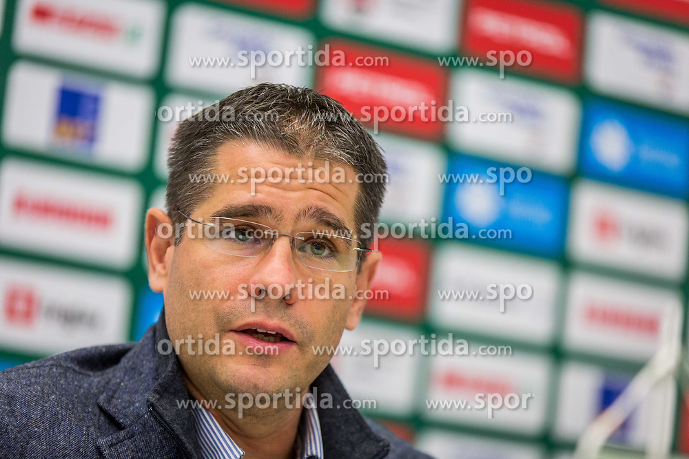 Sasa Nikitovicduring Presentation of new coach of KK Petrol Olimpija Ljubljana, Sasa Nikitovic, on November 23, 2018 in SRC Stozice, Ljubljana, Slovenia. Photo by Ziga Zupan / Sportida