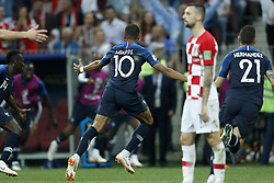 (L-R) Kylian Mbappe of France, Marcelo Brozovic of Croatia, Lucas Hernandez of France during the 2018 FIFA World Cup Russia Final match between France and Croatia at the Luzhniki Stadium on July 15, 2018 in Moscow, Russia
