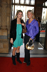 Left to right, MISS VIOLET VON WESTENHOLTZ and MISS OLIVIA BUCKINGHAM at the opening party for Diamonds - a new exhibition at The Natural History Museum, London in association with De Beers held on 6th July 2005.<br /><br />NON EXCLUSIVE - WORLD RIGHTS