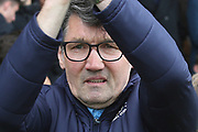Luton Town manager Mick Harford during the EFL Sky Bet League 1 match between Burton Albion and Luton Town at the Pirelli Stadium, Burton upon Trent, England on 27 April 2019.