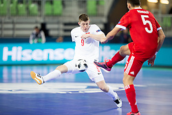 Romulo of Russia nd Tomasz Lutecki of Poland during futsal match between Russia and Poland at Day 1 of UEFA Futsal EURO 2018, on January 30, 2018 in Arena Stozice, Ljubljana, Slovenia. Photo by Urban Urbanc / Sportida