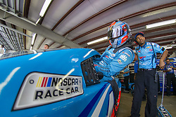 July 21, 2018 - Loudon, New Hampshire, United States of America - Darrell Wallace, Jr (43) prepares to take to the track for final practice for the Foxwoods Resort Casino 301 at New Hampshire Motor Speedway in Loudon, New Hampshire. (Credit Image: © Justin R. Noe Asp Inc/ASP via ZUMA Wire)