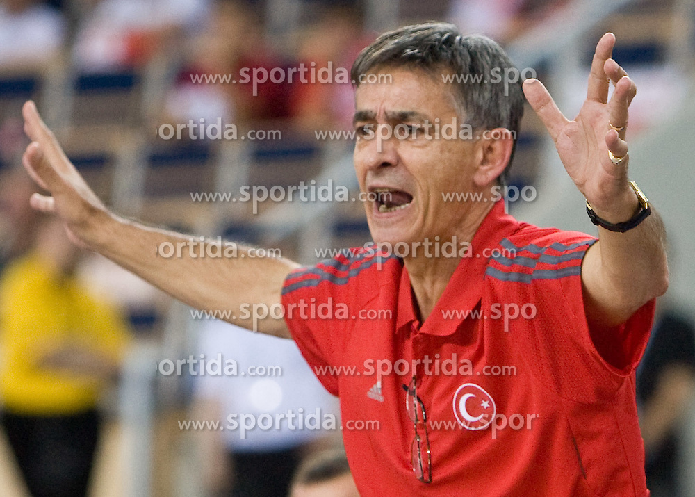 Head coach of Turkey Bogdan Tanjevic during the EuroBasket 2009 Group F match between Slovenia and Turkey, on September 16, 2009 in Arena Lodz, Hala Sportowa, Lodz, Poland.  (Photo by Vid Ponikvar / Sportida)