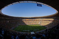 11-06-2010 VOETBAL: FIFA WORLDCUP 2010 ZUID AFRIKA - MEXICO: JOHANNESBURG<br /> De openingswedstrijd van het WK heeft geen winnaar opgeleverd.<br /> Begeleid door de sonore klank van de vuvuzela's op de tribunes in Johannesburg speelden Zuid-Afrika en Mexico met 1-1 gelijk / Soccer City Stadion<br /> ©2010-FRH- NPH/  Vid Ponikvar (Netherlands only)
