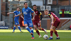 Lee Tomlin of Peterborough United plays the ball against Bradford City - Mandatory by-line: Joe Dent/JMP - 09/03/2019 - FOOTBALL - Northern Commercials Stadium - Bradford, England - Bradford City v Peterborough United - Sky Bet League One