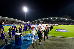 Players arriving to the field during group E football match between NK Maribor and Spartak Moscow in 1st Round of UEFA Champions League, on Septebmer 13, 2017 in Ljudski vrt, Ljubljana, Slovenia. Photo by Morgan Kristan / Sportida