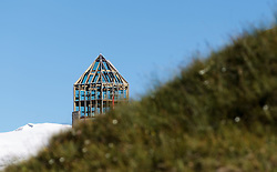 THEMENBILD - die Swarovski Warte auf der Grossglockner Hochalpenstrasse. Sie verbindet die beiden Bundeslaender Salzburg und Kaernten mit einer Laenge von 48 Kilometer und ist als Erlebnisstrasse vorrangig von touristischer Bedeutung, aufgenommen am 31. Juli 2015, Heiligenblut, Oesterreich // the Swarovski observatory. The Grossglockner High Alpine Road connects the two provinces of Salzburg and Carinthia with a length of 48 km and is as an adventure road priority of tourist interest at Heiligenblut, Austria on 2015/07/31. EXPA Pictures © 2015, PhotoCredit: EXPA/ JFK